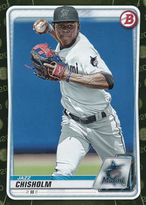 2020 Bowman Baseball Cards - Prospects CAMO PARALLEL (1-100): #BP-72 Jazz Chisholm