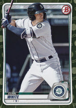 Load image into Gallery viewer, 2020 Bowman Baseball Cards - Prospects CAMO PARALLEL (1-100): #BP-77 Evan White