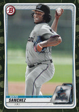 Load image into Gallery viewer, 2020 Bowman Baseball Cards - Prospects CAMO PARALLEL (1-100): #BP-79 Sixto Sanchez