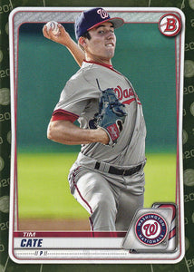 2020 Bowman Baseball Cards - Prospects CAMO PARALLEL (1-100): #BP-83 Tim Cate