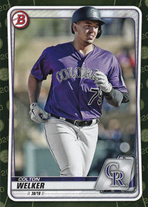 2020 Bowman Baseball Cards - Prospects CAMO PARALLEL (1-100): #BP-87 Colton Welker