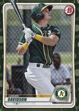 Load image into Gallery viewer, 2020 Bowman Baseball Cards - Prospects CAMO PARALLEL (1-100): #BP-88 Logan Davidson