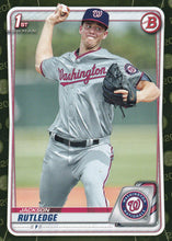 Load image into Gallery viewer, 2020 Bowman Baseball Cards - Prospects CAMO PARALLEL (1-100): #BP-91 Jackson Rutledge