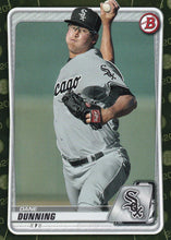 Load image into Gallery viewer, 2020 Bowman Baseball Cards - Prospects CAMO PARALLEL (1-100): #BP-92 Dane Dunning