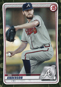 2020 Bowman Baseball Cards - Prospects CAMO PARALLEL (1-100): #BP-97 Ian Anderson