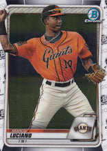 Load image into Gallery viewer, 2020 Bowman Baseball Cards - Chrome Prospects (101-150): #BCP-103 Marco Luciano