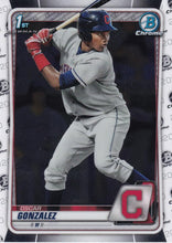 Load image into Gallery viewer, 2020 Bowman Baseball Cards - Chrome Prospects (101-150): #BCP-109 Oscar Gonzalez
