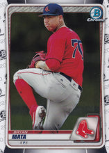 Load image into Gallery viewer, 2020 Bowman Baseball Cards - Chrome Prospects (101-150): #BCP-128 Bryan Mata