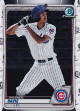 Load image into Gallery viewer, 2020 Bowman Baseball Cards - Chrome Prospects (101-150): #BCP-141 Brennen Davis