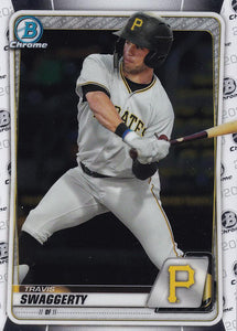 2020 Bowman Baseball Cards - Chrome Prospects (101-150): #BCP-146 Travis Swaggerty