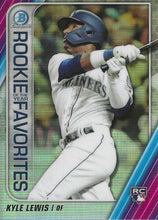 Load image into Gallery viewer, 2020 Bowman - Rookie of the Year Favorites Chrome Refractor Insert ~ Pick your card