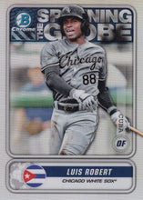 Load image into Gallery viewer, 2020 Bowman - Spanning the Globe Chrome Refractor Insert: #STG-LR Luis Robert