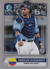 Load image into Gallery viewer, 2020 Bowman - Spanning the Globe Chrome Refractor Insert: #STG-RH Ronaldo Hernandez