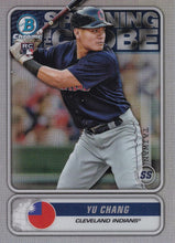Load image into Gallery viewer, 2020 Bowman - Spanning the Globe Chrome Refractor Insert: #STG-YC Yu Chang
