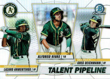Load image into Gallery viewer, 2020 Bowman - Talent Pipeline Trios Chrome Refractor Insert ~ Pick your card