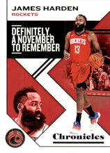 Load image into Gallery viewer, 2019-20 Panini Chronicles Basketball Cards #1-100: #2 James Harden  - Houston Rockets
