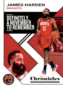 2019-20 Panini Chronicles Basketball Cards #1-100: #2 James Harden  - Houston Rockets
