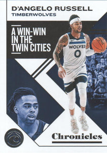 2019-20 Panini Chronicles Basketball Cards #1-100: #6 D'Angelo Russell  - Minnesota Timberwolves