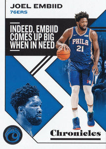 2019-20 Panini Chronicles Basketball Cards #1-100: #9 Joel Embiid  - Philadelphia 76ers