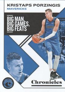 2019-20 Panini Chronicles Basketball Cards #1-100: #11 Kristaps Porzingis  - Dallas Mavericks
