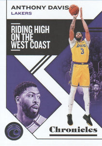 2019-20 Panini Chronicles Basketball Cards #1-100: #16 Anthony Davis  - Los Angeles Lakers