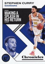 Load image into Gallery viewer, 2019-20 Panini Chronicles Basketball Cards #1-100: #21 Stephen Curry  - Golden State Warriors
