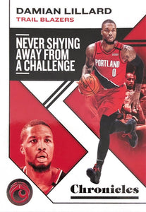 2019-20 Panini Chronicles Basketball Cards #1-100: #22 Damian Lillard  - Portland Trail Blazers