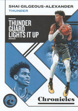 Load image into Gallery viewer, 2019-20 Panini Chronicles Basketball Cards #1-100: #26 Shai Gilgeous-Alexander  - Oklahoma City Thunder