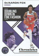Load image into Gallery viewer, 2019-20 Panini Chronicles Basketball Cards #1-100: #29 De'Aaron Fox  - Sacramento Kings