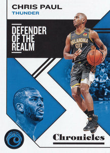 2019-20 Panini Chronicles Basketball Cards #1-100: #31 Chris Paul  - Oklahoma City Thunder