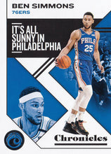 Load image into Gallery viewer, 2019-20 Panini Chronicles Basketball Cards #1-100: #32 Ben Simmons  - Philadelphia 76ers