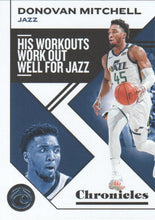 Load image into Gallery viewer, 2019-20 Panini Chronicles Basketball Cards #1-100: #34 Donovan Mitchell  - Utah Jazz