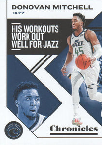 2019-20 Panini Chronicles Basketball Cards #1-100: #34 Donovan Mitchell  - Utah Jazz