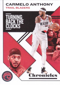 2019-20 Panini Chronicles Basketball Cards #1-100: #35 Carmelo Anthony  - Portland Trail Blazers