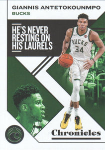 2019-20 Panini Chronicles Basketball Cards #1-100: #39 Giannis Antetokounmpo  - Milwaukee Bucks