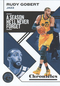 2019-20 Panini Chronicles Basketball Cards #1-100: #40 Rudy Gobert  - Utah Jazz