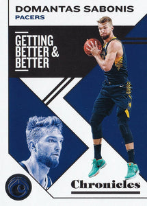 2019-20 Panini Chronicles Basketball Cards #1-100: #41 Domantas Sabonis  - Indiana Pacers