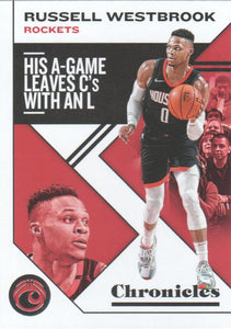 2019-20 Panini Chronicles Basketball Cards #1-100: #45 Russell Westbrook  - Houston Rockets
