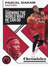 Load image into Gallery viewer, 2019-20 Panini Chronicles Basketball Cards #1-100: #46 Pascal Siakam  - Toronto Raptors