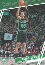 Load image into Gallery viewer, 2019-20 Panini Chronicles Basketball Cards #1-100: #70 Romeo Langford RC - Boston Celtics