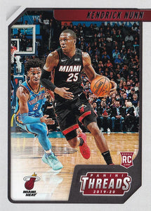 2019-20 Panini Chronicles Basketball Cards #1-100: #82 Kendrick Nunn RC - Miami Heat