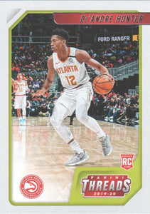 2019-20 Panini Chronicles Basketball Cards #1-100: #94 De'Andre Hunter RC - Atlanta Hawks