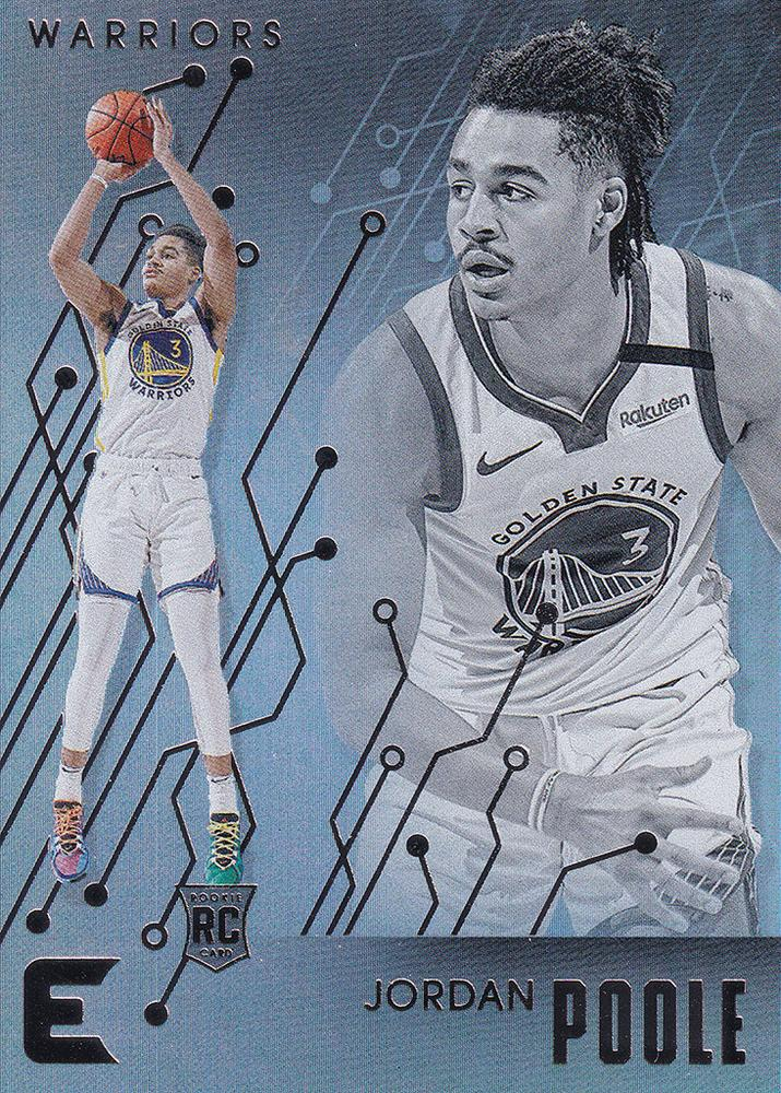 2019-20 Panini Chronicles Basketball Cards #201-300: #202 Jordan Poole RC - Golden State Warriors