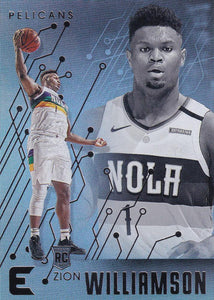 2019-20 Panini Chronicles Basketball Cards #201-300: #210 Zion Williamson RC - New Orleans Pelicans