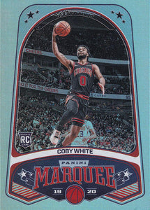 2019-20 Panini Chronicles Basketball Cards #201-300: #237 Coby White RC - Chicago Bulls