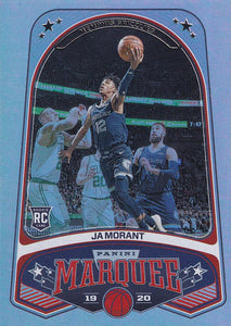 2019-20 Panini Chronicles Basketball Cards #201-300: #253 Ja Morant RC - Memphis Grizzlies