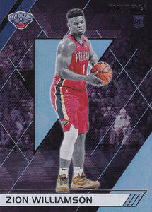 2019-20 Panini Chronicles Basketball Cards #201-300: #292 Zion Williamson RC - New Orleans Pelicans