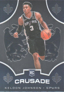 2019-20 Panini Chronicles Basketball Cards #501-699: #519 Keldon Johnson RC - San Antonio Spurs