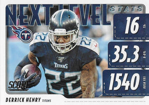 2020 Panini Score NFL Football Cards NEXT LEVEL STATS Insert - Pick Your Cards