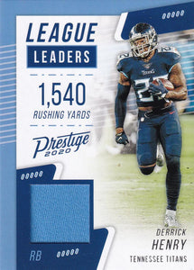 2020 Panini Prestige NFL LEAGUE LEADERS RELICS ~ Pick Your Cards